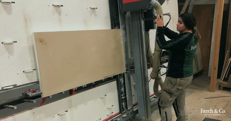 Fandt vejen til bygningsnedker gennem sin fars værksted