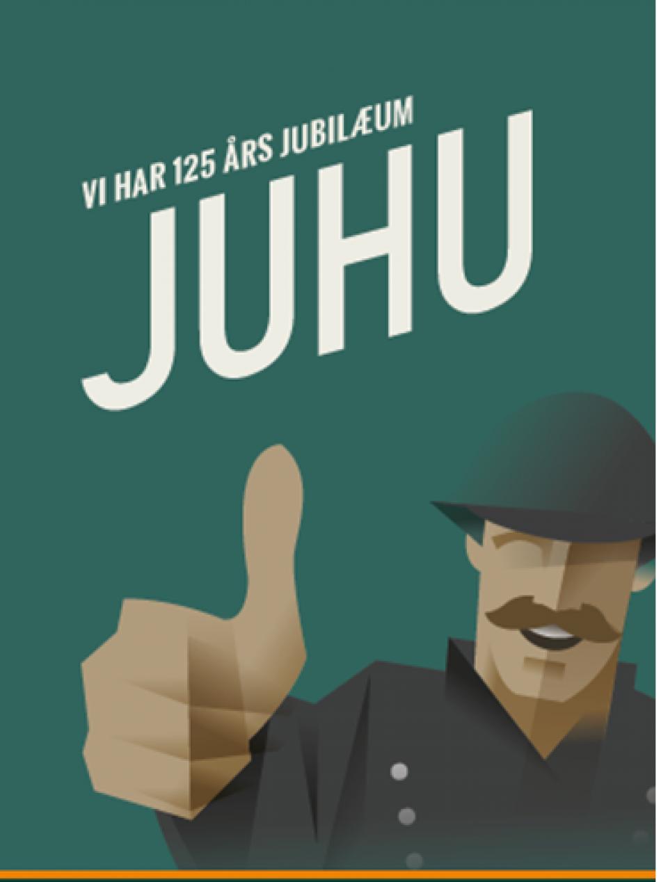 JUHU - 125 års jubilæum - invitation
